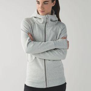 Lululemon Scuba hoodie Heather's lt gray sz 10
